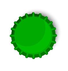 Green bottle cap vector