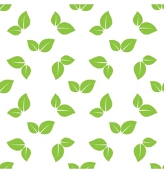 Green leaves seamless vector
