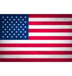 Grunge USA Flag american america symbol vector image
