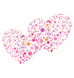 Hearts for Valentines day love vector image