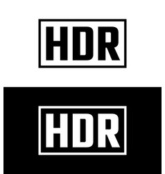 high dynamic range symbol vector image