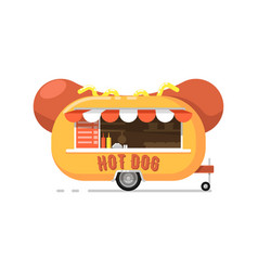 hot dog outdoor cafe service icon vector image