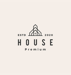 House home mortgage roarchitect hipster vector
