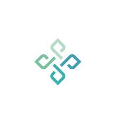 infinity flower knot network link logo vector image