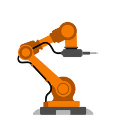 Isolated robotic arm icon vector