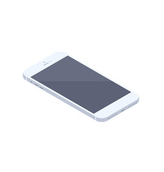 isometric white smartphone isolated vector image