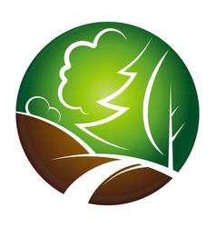 landscape design symbol vector image