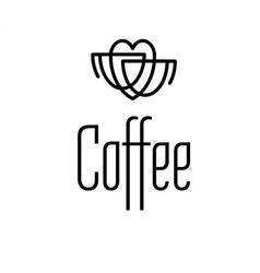 Logo coffee set vector image