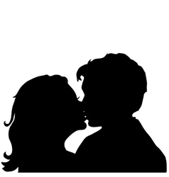 Love Pair Kiss vector image
