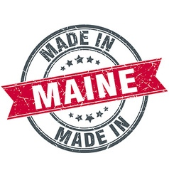 made in Maine red round vintage stamp vector image