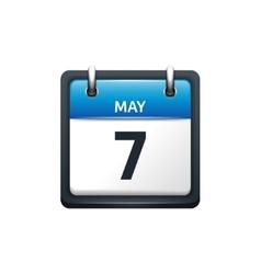 May 7 Calendar icon flat vector image