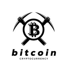 Mining crypto currency logo de vector