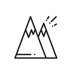 mountain line icon mount sign and symbol hill vector image
