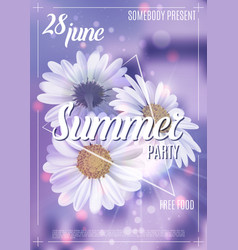 new designe summer party flyer or poster template vector image