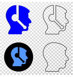 operator head eps icon with contour version vector image