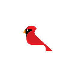 red cardinal bird logo vector image