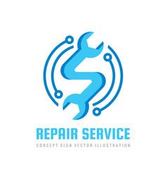 Repair service logo template concept illust vector