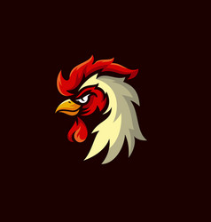rooster mascot logo design vector image