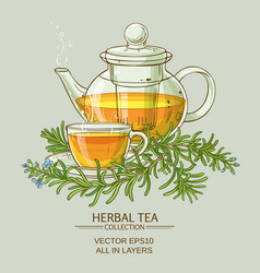Rosemary tea vector