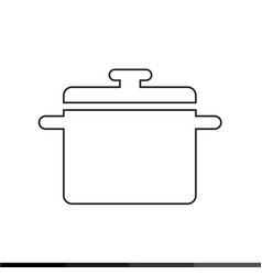 saucepan icon kitchen pan icon design vector image