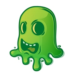 Scary green slug vector
