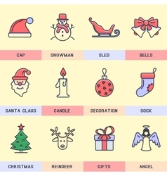 Set of icons in the flat style vector image