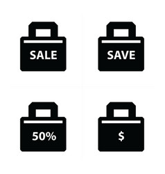 Shopping bags set price style vector