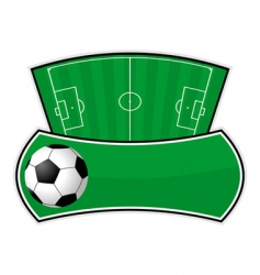 soccer field shield vector image