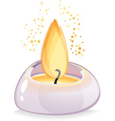 Tealight candle over white background vector image