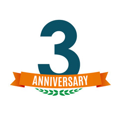 Template 3 years anniversary background vector