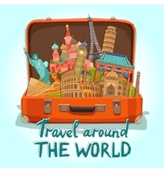 Tourist Suitcase vector image