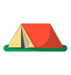 triangle camping tent icon isolated vector image