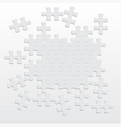 Various sizes puzzle for design vector