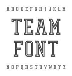 Vintage Font Slab Serif Retro Typeface vector image