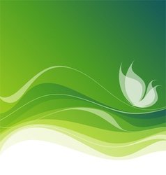 white butterfly on abstract green background ep vector image
