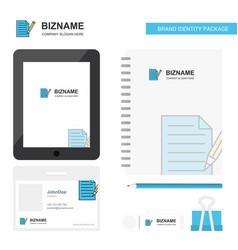 write document business logo tab app diary pvc vector image
