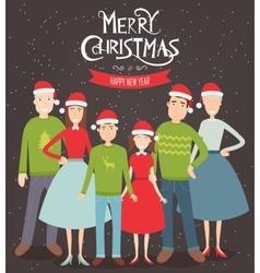 Christmas family portrait Family holidays vector image