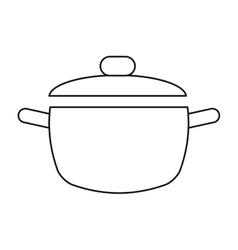 cooking pot kitchen food outline vector image