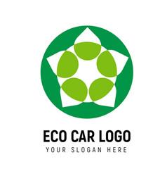 eco-friendly transport logo template logotype vector image vector image