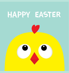 happy easter sign symbol chicken head face big vector image vector image