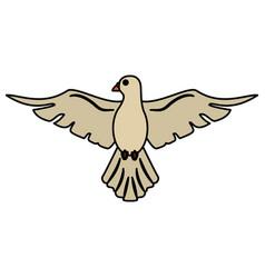holy spirit dove symbol peace vector image