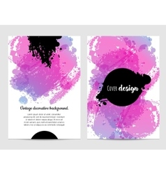 Invitation with hand drawn brush stain vector image vector image