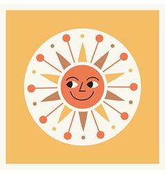 Retro style cartoon sun vector image vector image