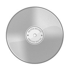 Silver disc vector image