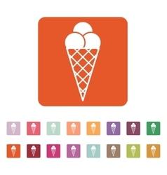 The ice-cream icon Ice cream symbol Flat vector image