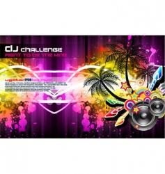 tropical disco party flyer vector image