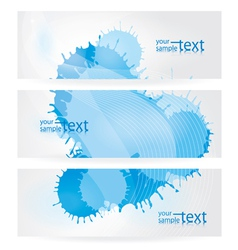 abstract blue elements vector image vector image