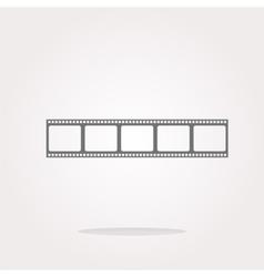 film strip icon glossy button icon vector image