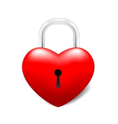 Grossy Locked Heart vector image vector image