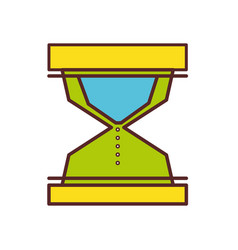 hourglass object to know the time vector image vector image